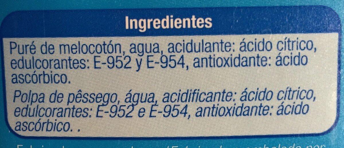 Nectar de melocoton - Ingredientes - es