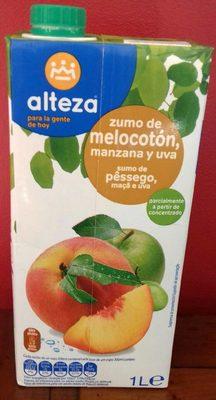 Zumo de melocotón,  manzana y uva - Produit - fr
