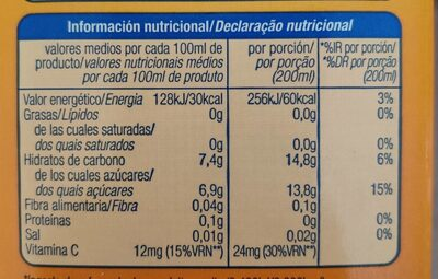 Florida - Informations nutritionnelles - fr