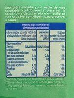 Leche semi destanada - Información nutricional - es
