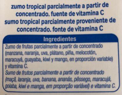 Zumo tropical - Ingredientes - es