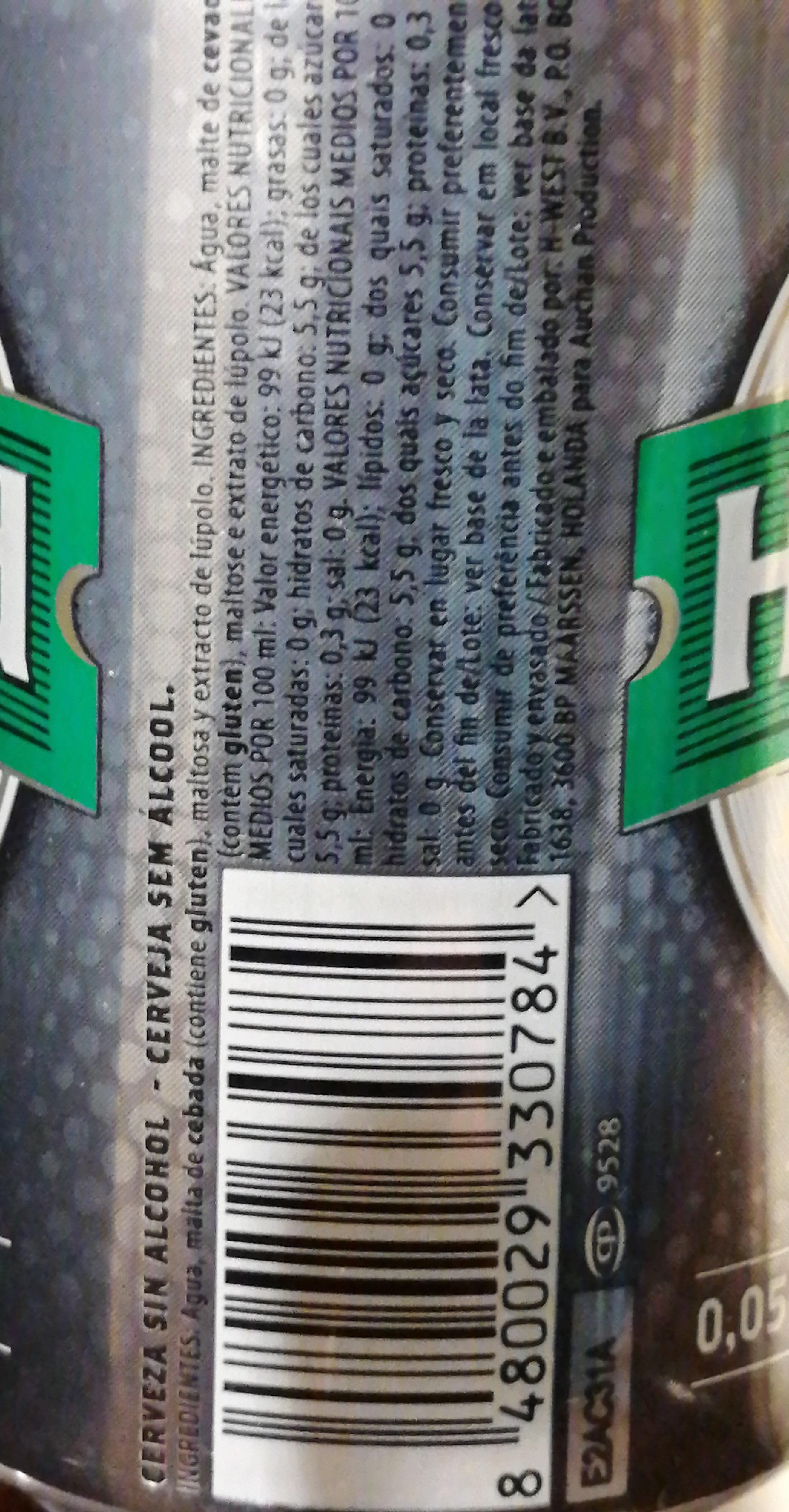 Holbrand sin - Ingredients - es