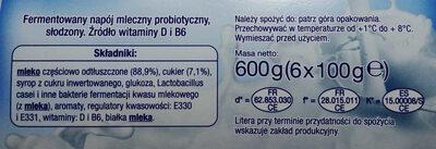 Fermentowany napój mleczny probiotyczny, słodzony. - Ingredients