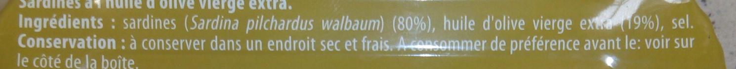Sardines à l'ancienne - Ingredients - fr