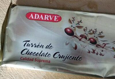 Turrón de chocolate crujiente - Producto