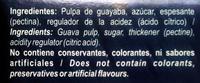 Pasta de guayaba - Ingrediënten - es