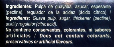 Pasta de guayaba - Ingrédients - es