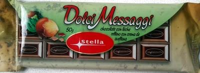 """Tableta de chocolate con leche """"Dolci Messaggi"""" con crema de avellana - Product"""
