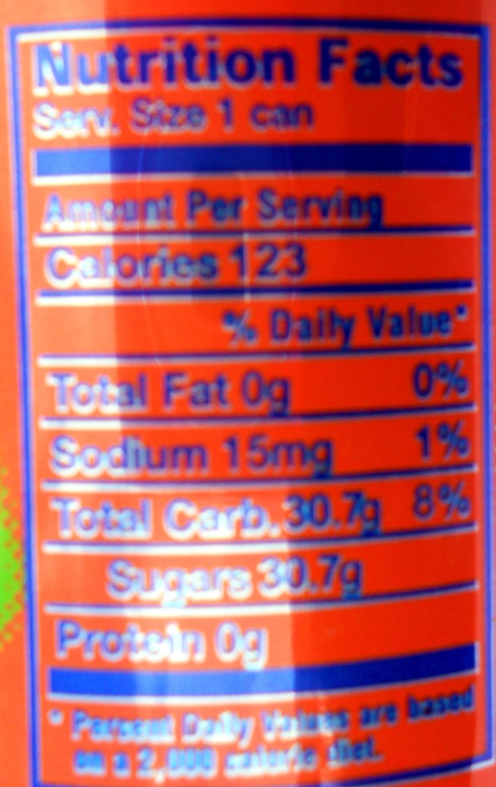 Naranja - Voedingswaarden