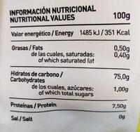 Puré de papas - Ingredients - es