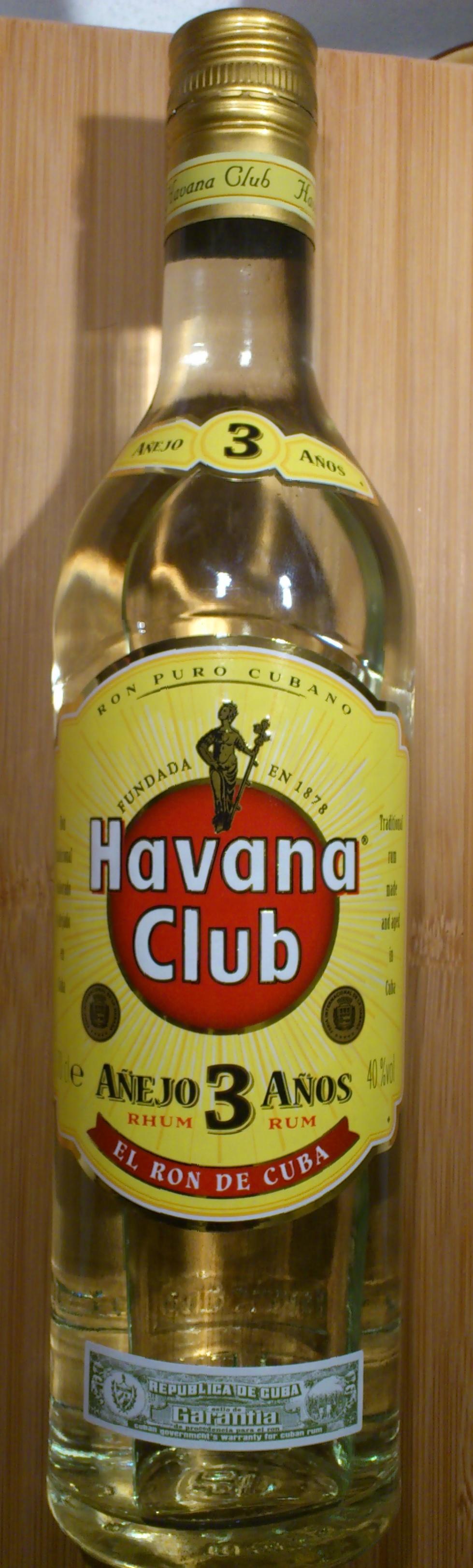 Havana Club 3 ans - Product - fr