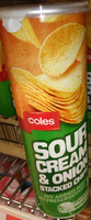 Sour Cream & Onion Stacked Chips - Produit