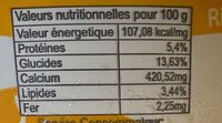 Yaourt Iti - Informations nutritionnelles