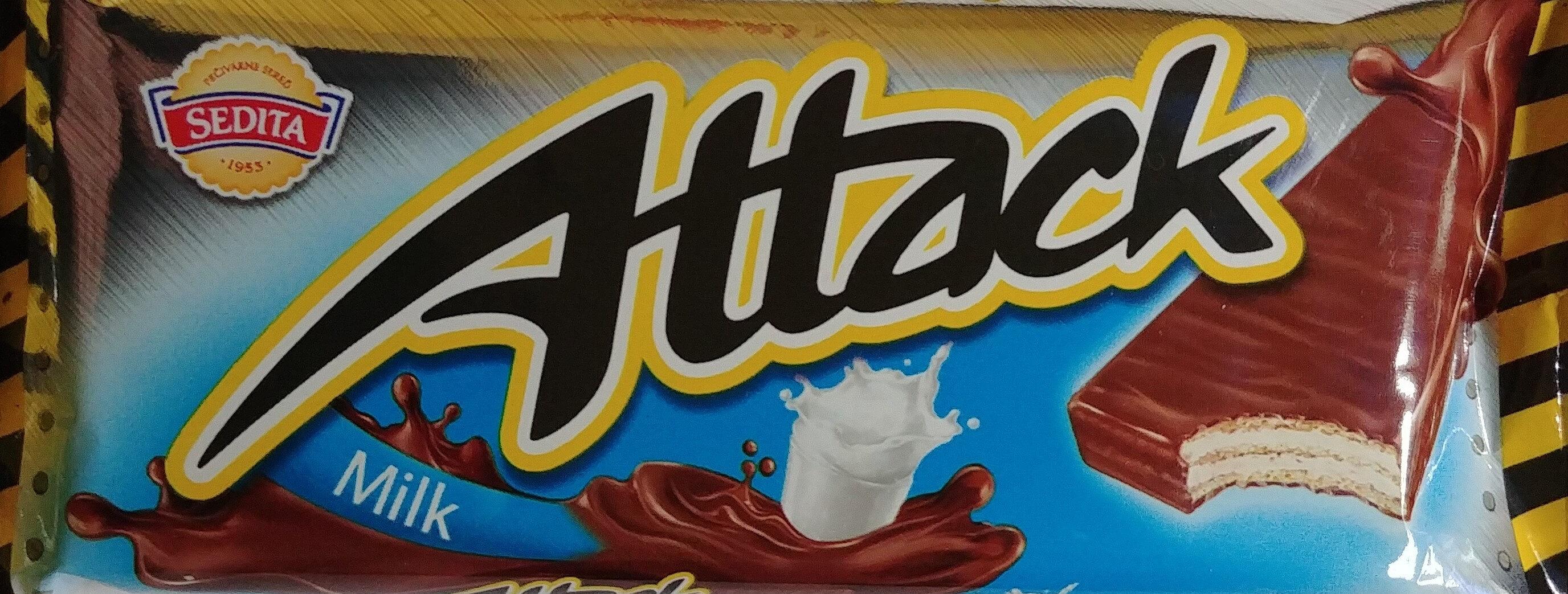 Kruchy wafelek z kremowym nadzieniem (58%) mlecznym w polewie mleczno-kakaowej - Produkt - pl