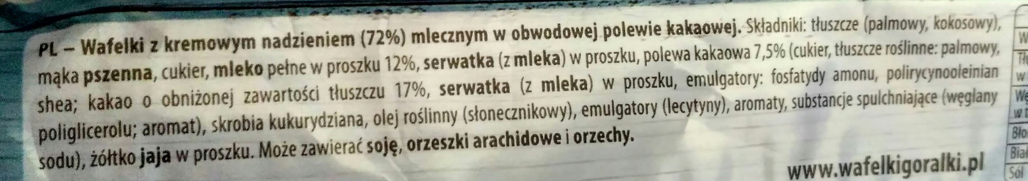 Góralki Mleczne - Składniki - pl