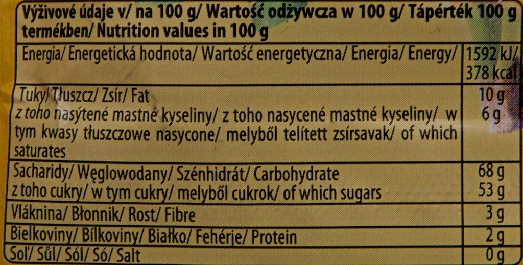 Banana in chocolate - Informations nutritionnelles