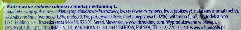 Nadziewane ziołowe cukierki z melisa i witaminą C - Składniki - pl