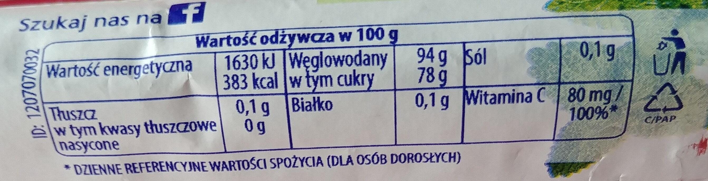 Nadziewane ziołowe cukierki z melisa i witaminą C - Wartości odżywcze - pl