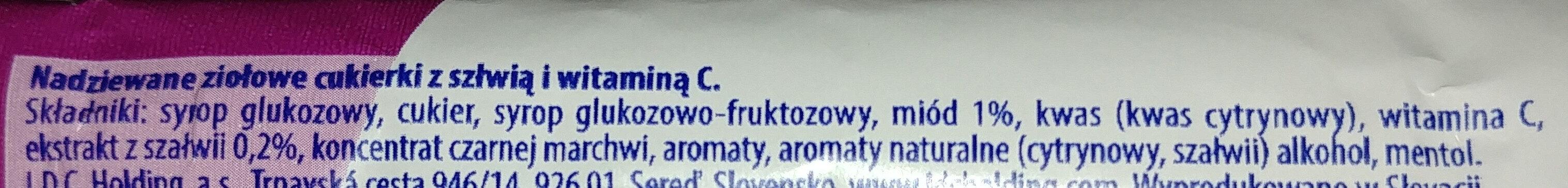 Nadziewane ziołowe cukierki z szałwią i Wit. C - Składniki - pl