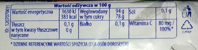 Nadziewane ziołowe cukierki z szałwią i Wit. C - Wartości odżywcze