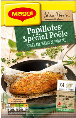 Papillotes spécial poêle-poulet aux herbes de provence - Product - fr