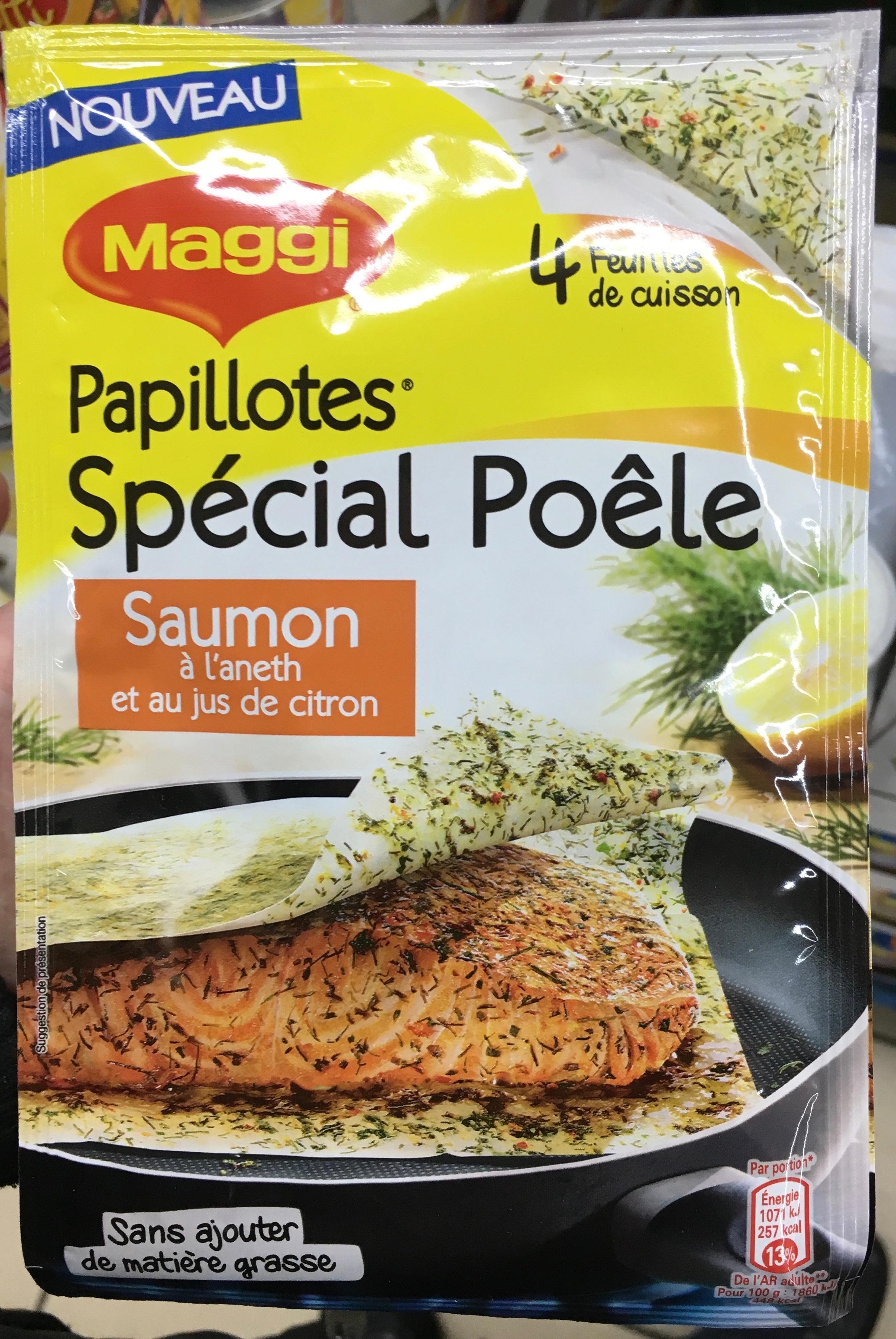 Papillottes Spécial Poêle Saumon à l'aneth et au jus de citron - Produit - fr
