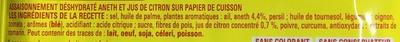 Papillottes Spécial Poêle Saumon à l'aneth et au jus de citron - Ingrédients - fr