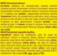 Зеленчуков бульон - Inhaltsstoffe - bg