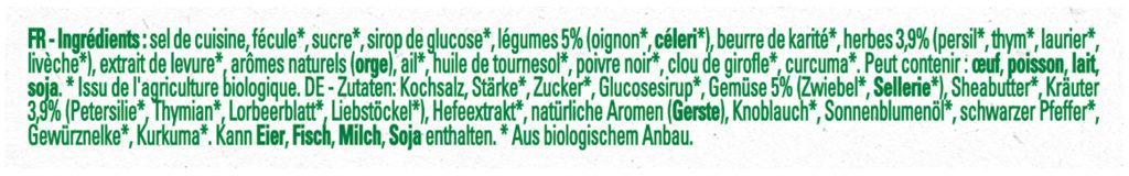 Bouillon Kub Bio Bouquet Garni - Ingrediënten