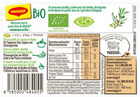 Bouillon Kub Bio Bouquet Garni - Voedigswaarden