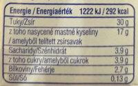 Habtejszín Lactose free - Informations nutritionnelles - hu