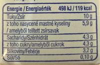 Főzőtejszín Lactose Free - Informations nutritionnelles - hu