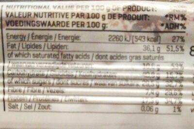Nuts & Pumpkin Seeds - Informations nutritionnelles - hu