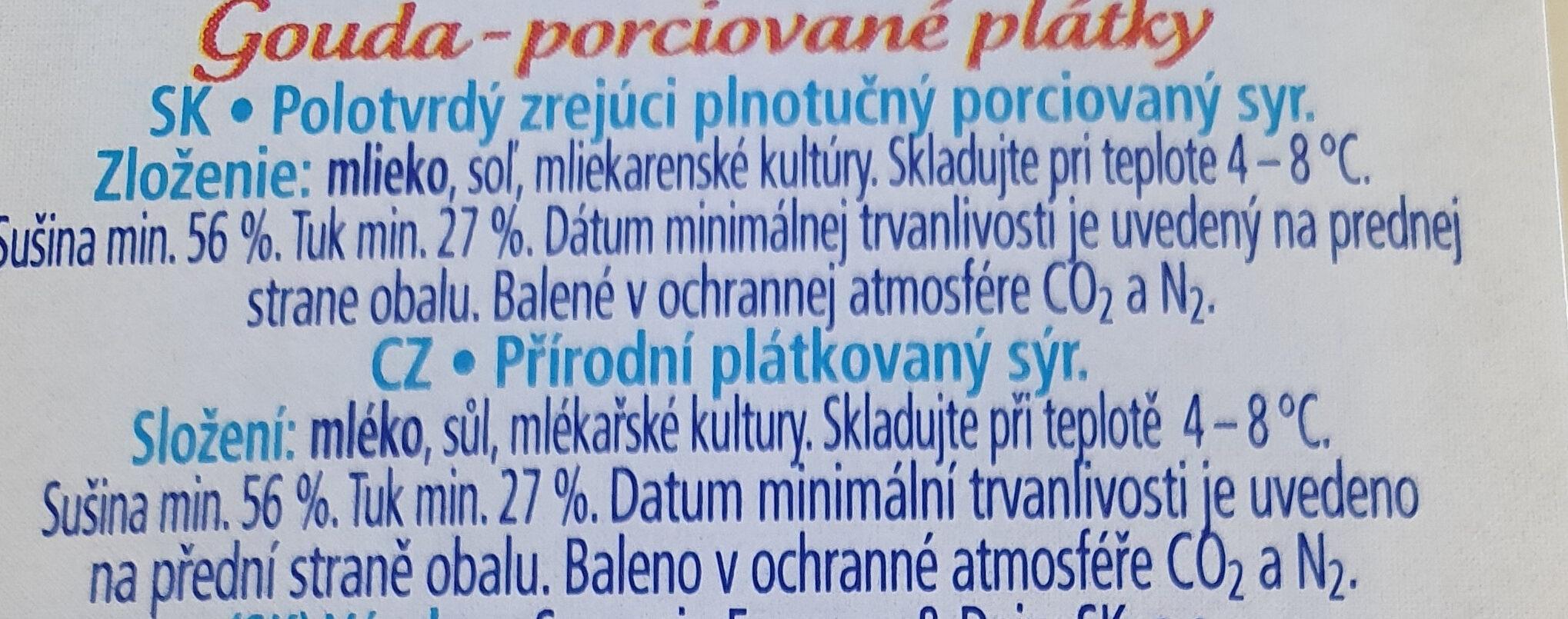 Gouda - Ingrediënten - sk