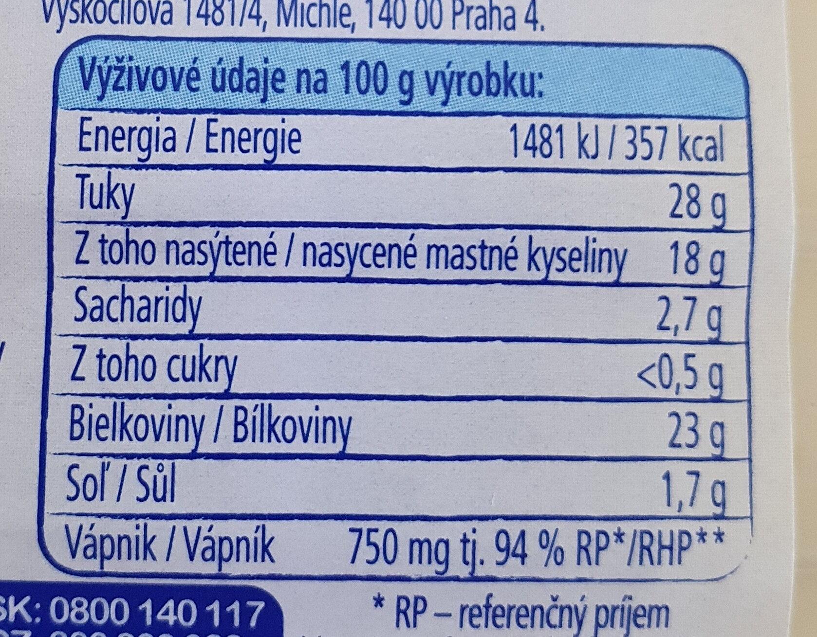 Gouda - Voedingswaarden - sk