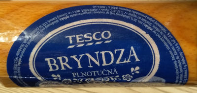 Bryndza - Informations nutritionnelles - sk