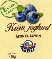MILSY Krém joghurt áfonya ágyon - Product - en