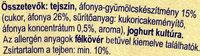 MILSY Krém joghurt áfonya ágyon - Ingredients - en