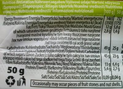 Raw Paleo Bar Kakao Haselnuss - Nutrition facts - en