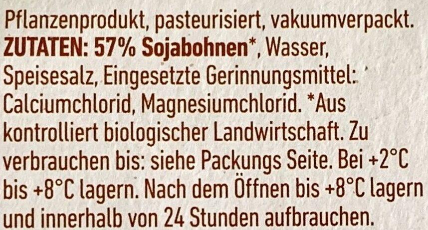 Bio Tofu Geräuchert - Ingredienti - de