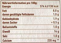 Bio Tofu Geräuchert - Valori nutrizionali - de