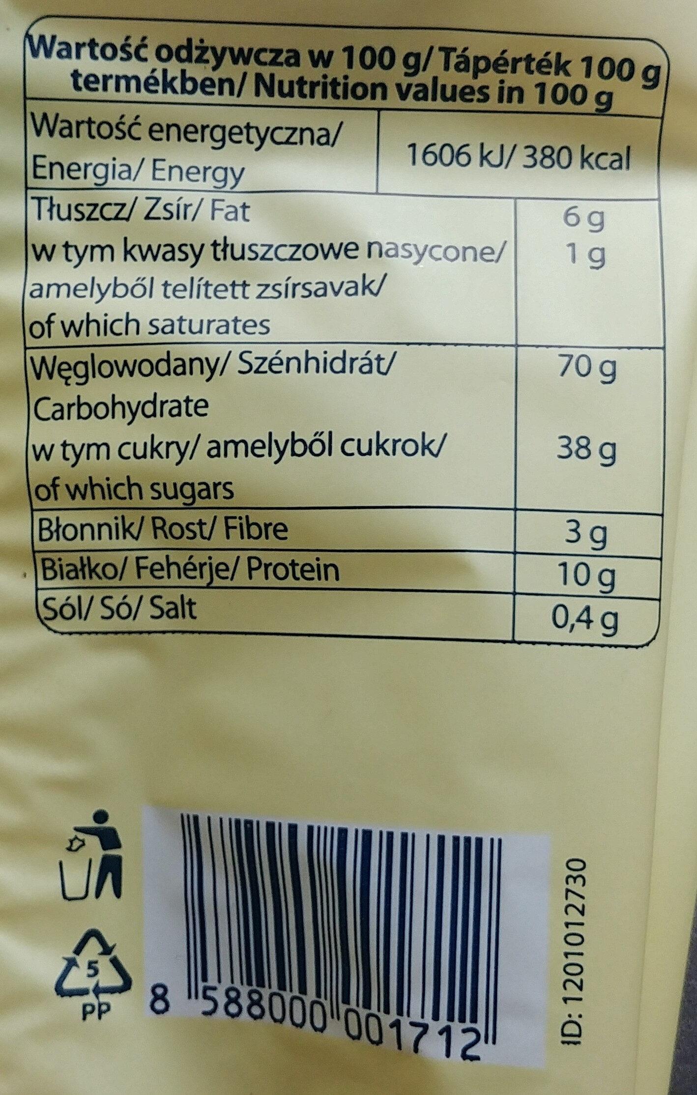 Biszkopty typu Ladyfingers - Wartości odżywcze - pl