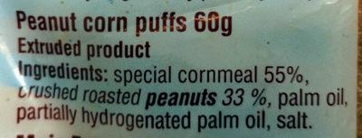Kukuričné chrumky arašidové - Ingredients