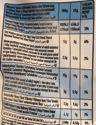 Organique Potato Snack With Sea Salt 85G - Valori nutrizionali - fr