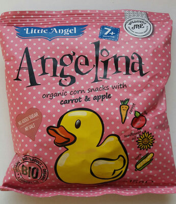 Little Angel Organic Corn Snacks With Carrot & Apple 60G - Product - en
