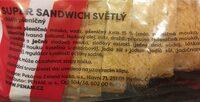 Super sandwich white - Ingrediënten - en