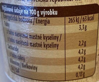 Bio jogurt bílý - Nährwertangaben - cs