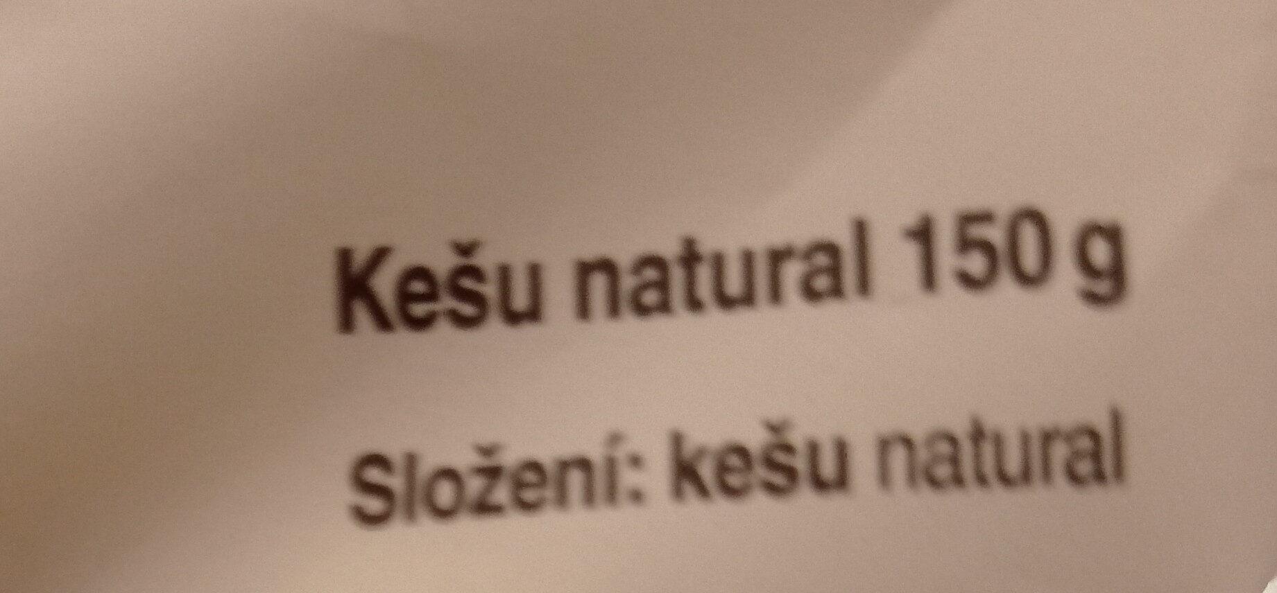 Kešu natural - Ingrédients - cs