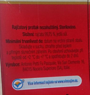 Passata di pomodora - Ingredients - cs