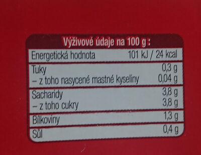 Passata di pomodora - Nutrition facts - cs